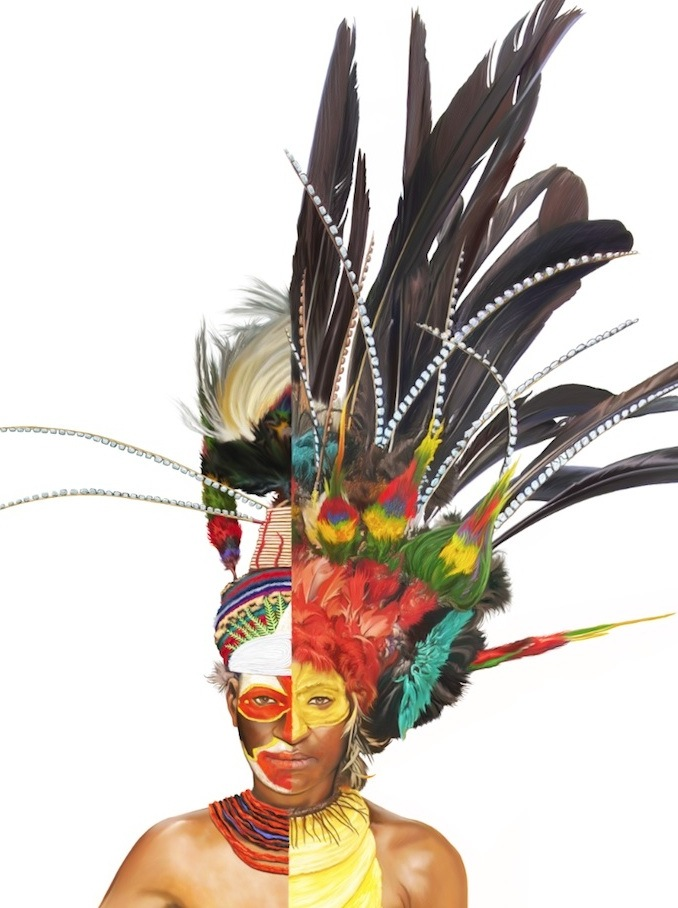 Headdresses of New Guinea  - a commissioned work for Australian Geographic magazine (Michael Payne)