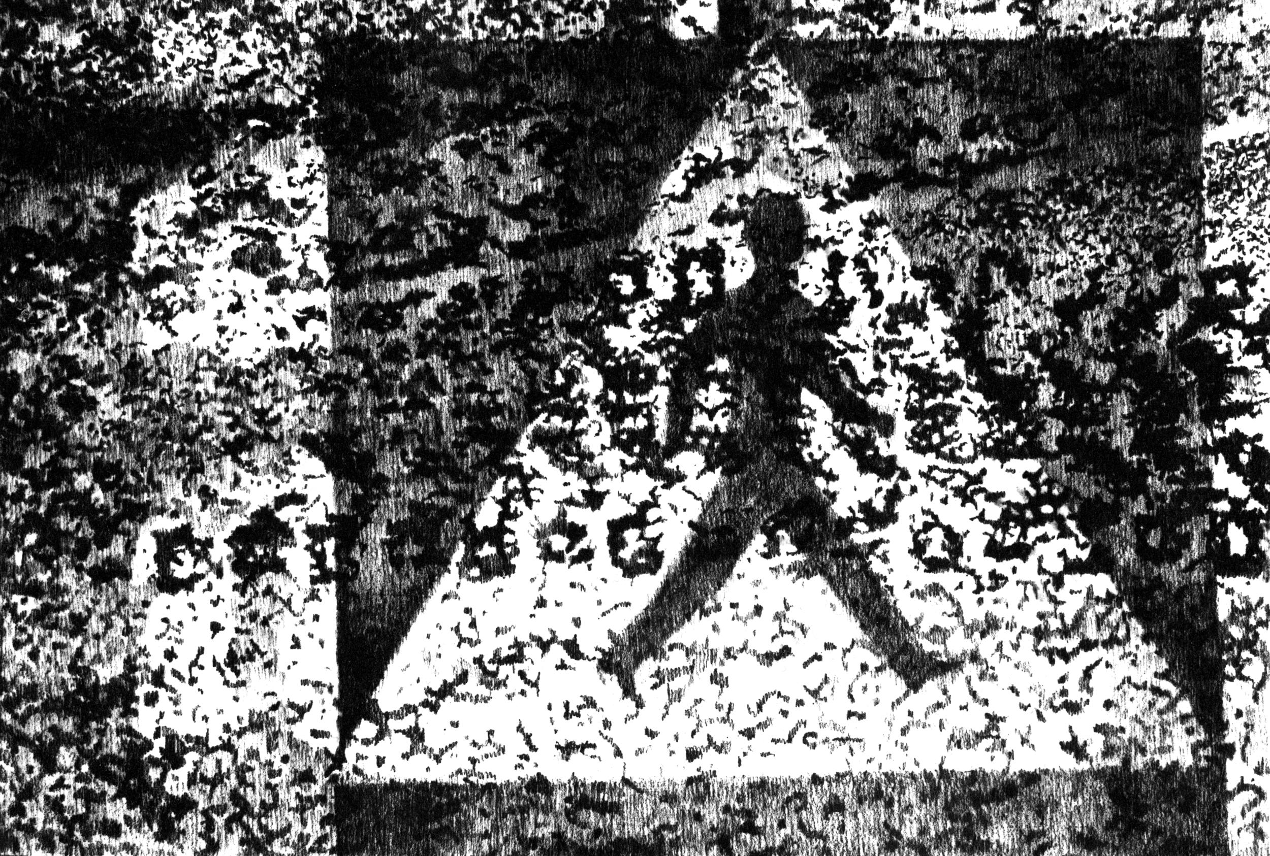Maria Adlercreutz, Kompis, 1967, 67 x 95 cm, blyerts på papper