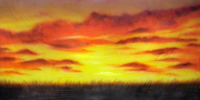 Africa Backdrop  Grasslands Sunset  Treated with fire retardant 010817