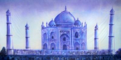 Bollywood Backdrop  Blue Taj Mahal  Treated with fire retardant 010817