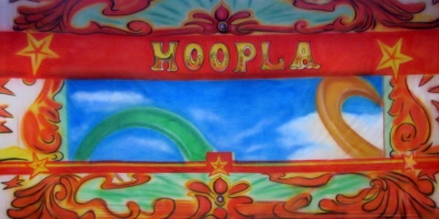 Fairground Backdrop  Hoopla  Treated with fire retardant 300815