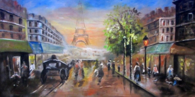 France Backdrops  Old Time Paris  Treated with fire retardant 220816