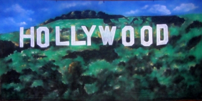 Hollywood Backdrop  Hollywood Hills  Treated with fire retardant 220816