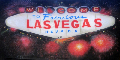 Vegas Backdrop  Vegas Sign  Treated with fire retardant 300815