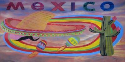 Mexico Backdrop  Mexico  Treated with fire retardant 010817