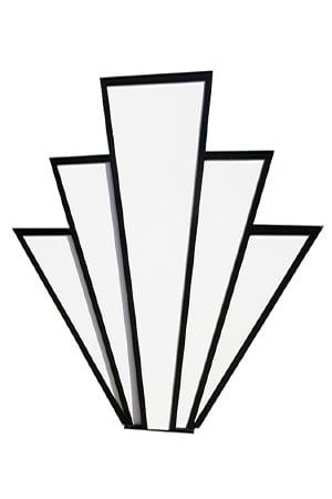Art Deco Sunbursts (2 available)  Measure approximately 2.5m x 2m - Freestanding