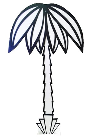 Art Deco Palm Trees (4 available)  Measure approximately 2.5m x 1.25m - Freestanding