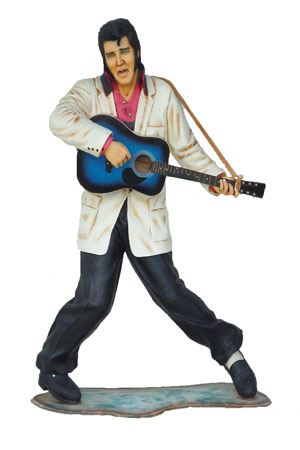 Life Sized 3D Blues Elvis