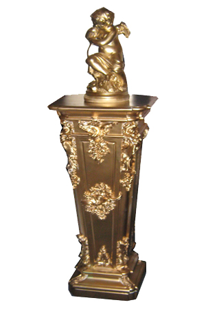 Golden Columns with Cupid statues - 4 available  Measure approximately 1.6m