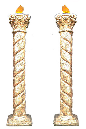 6' Gold Columns  Provided with or without silk flame effects  6 available