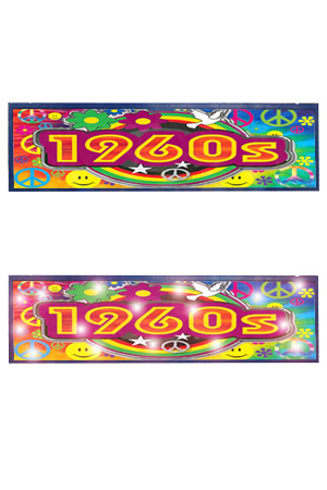1960S Sign - Approx 8' x 2'  Lit with internal static or moving LEDs