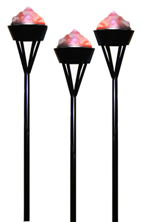 Silk flame effect flambeau