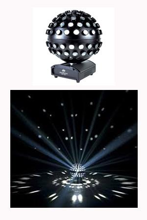 Revolving Mirror Ball - Internal LED - Spherion