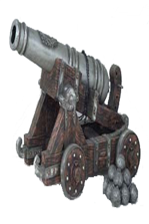 Cannon - lifesized - Fully 3D  Approx dimensions:- 90cm x 135cm x 88cm