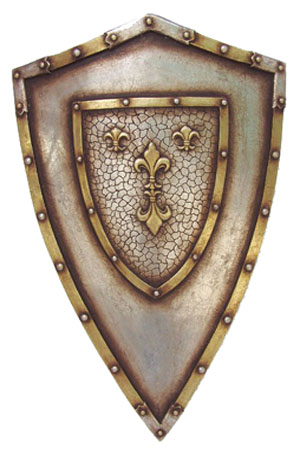 Shields - 9 available in 3 different designs   Approx  dimensions -   89 cms x  58 cms x 13 cms
