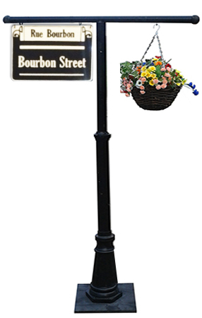 New Orleans Street sign with flower basket  Several different New Orleans signs available