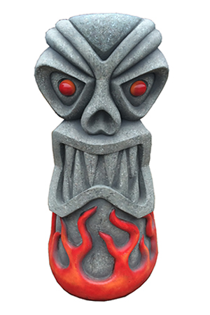 FIre Tiki    Approx  dimensions:- 80cm x 56cm x 186cm    Huge figure now with stone finish