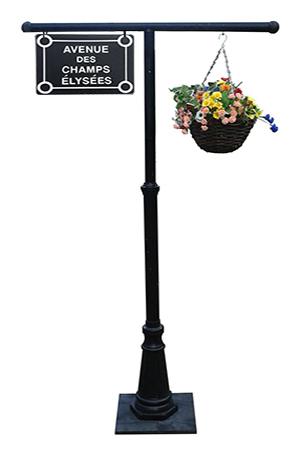 Street Signs with flowers  4 available - Place de la tour eiffel -Rue des Martyrs -Place de la Republique -Avenue des Champs Élysées