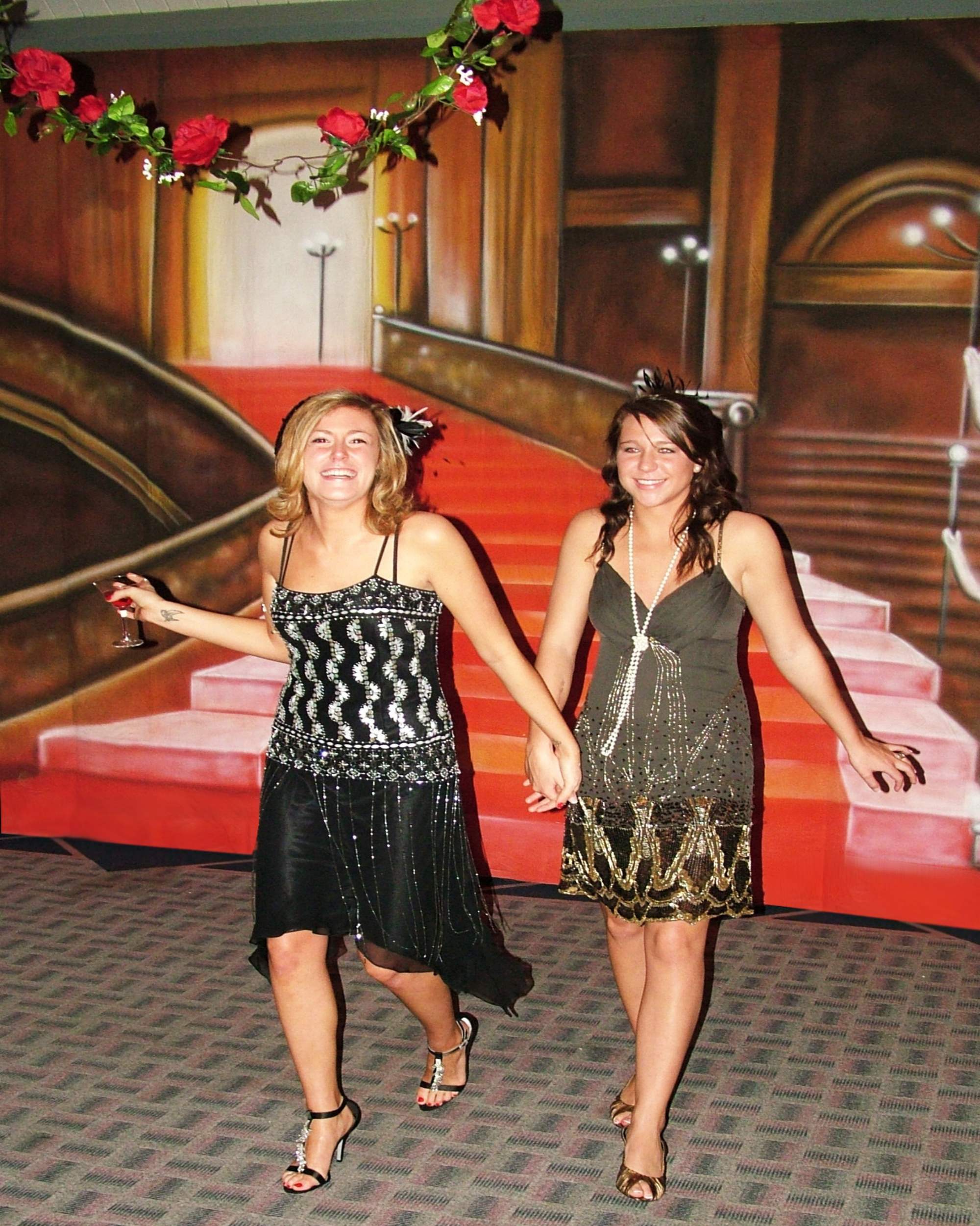 1920s - girls at gatsby event - staircase drop.jpg