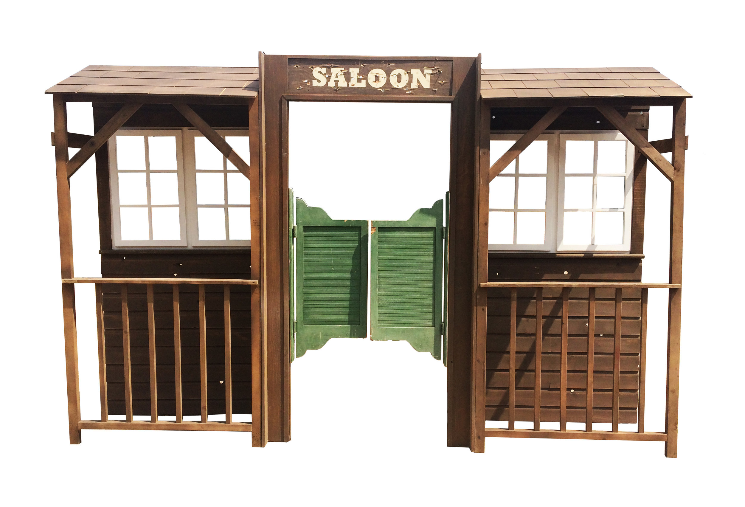 Saloon Frontage using Saloon Doors above  2.44m High - 3.7m Wide - 0.6m Deep