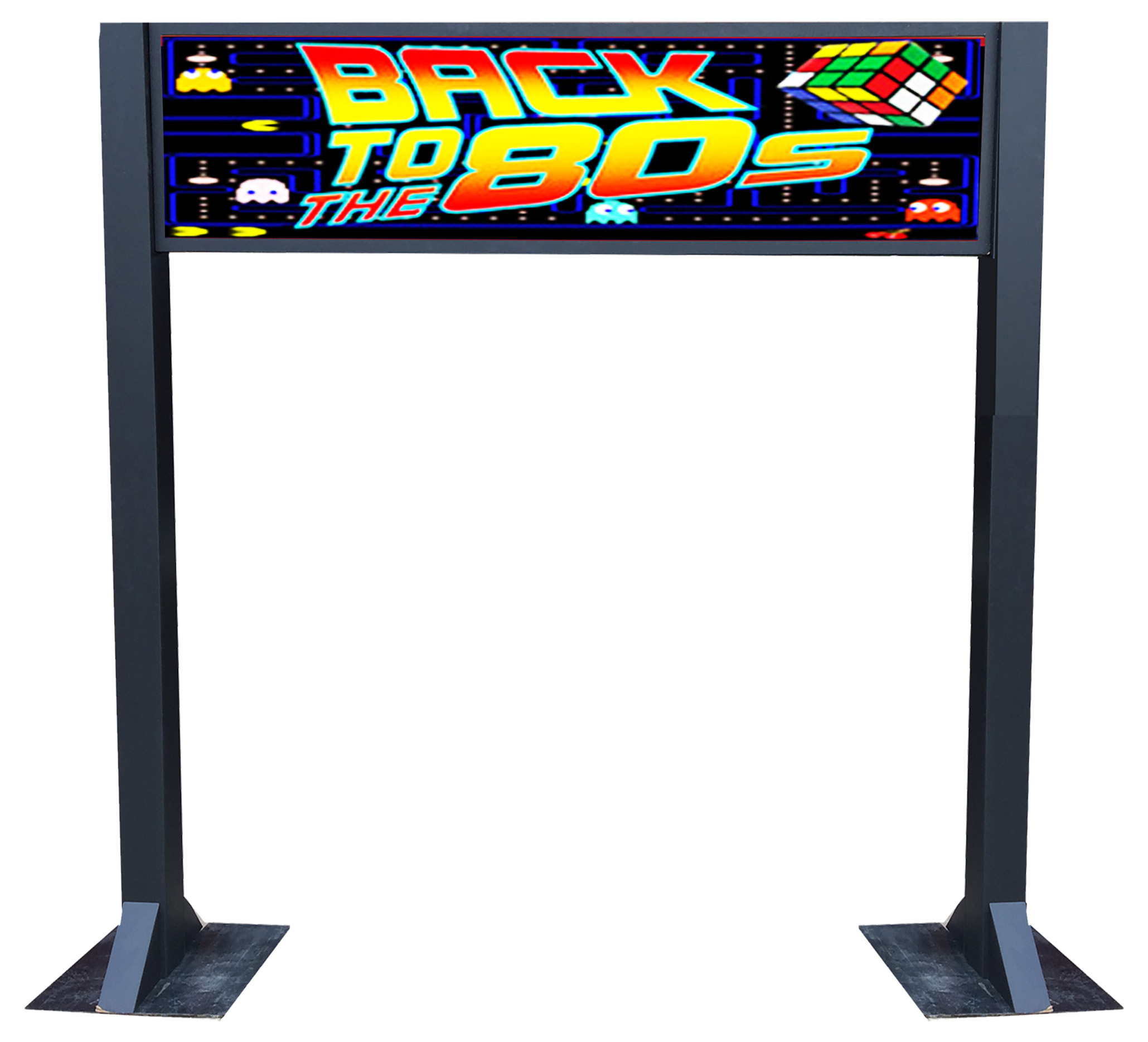 80s Entrance Arch  Unlit or Lit with internal static or moving LEDs
