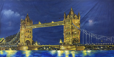 London Backdrop  Tower Bridge  Treated with fire retardant 010817