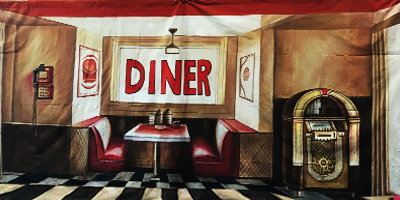 Grease Backdrop  Grease Diner  Treated with fire retardant 010817