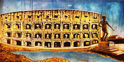 Roman Backdrop  Colosseum
