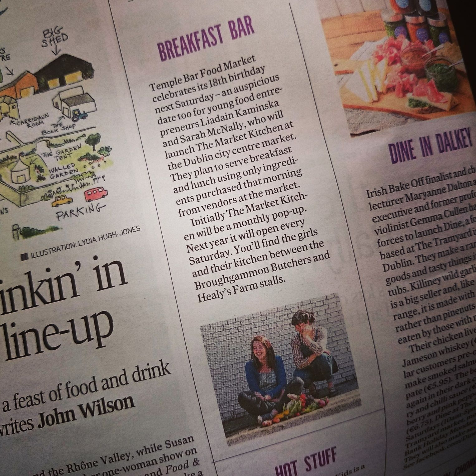 The Irish Times - Breakfast Bar .    Published 9 May 2015.