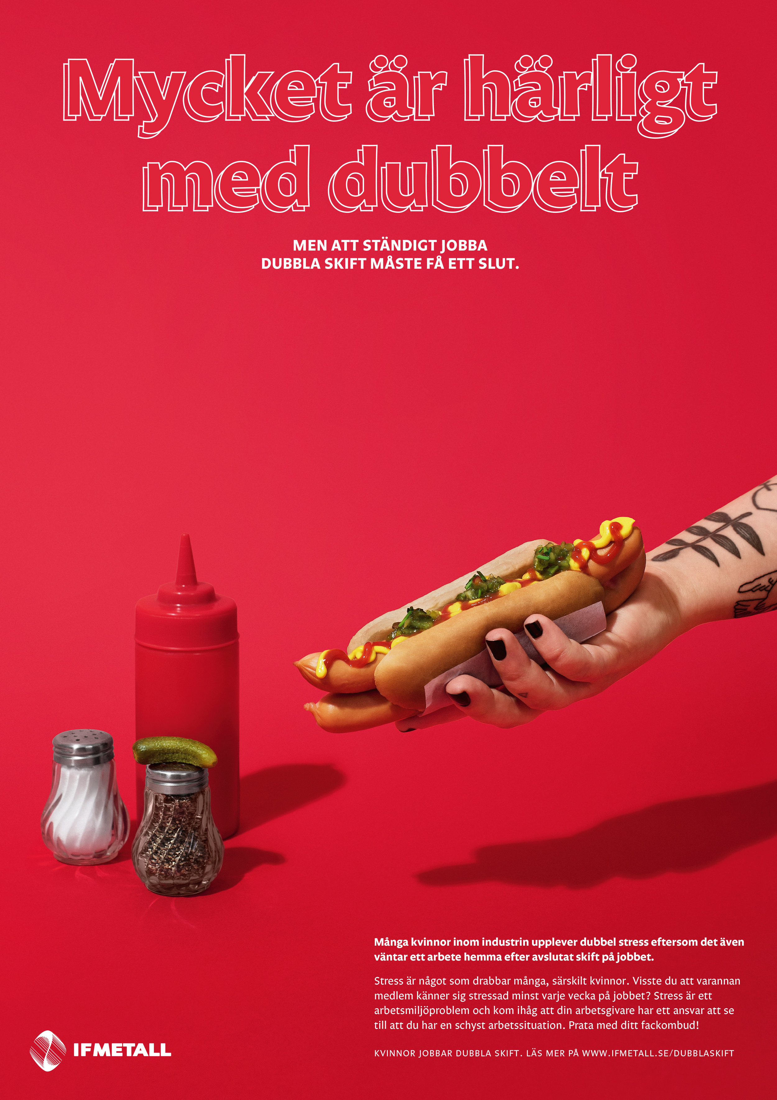 Kampanj IF Metall Dubbel Stress av fotograf Amanda Nilsson