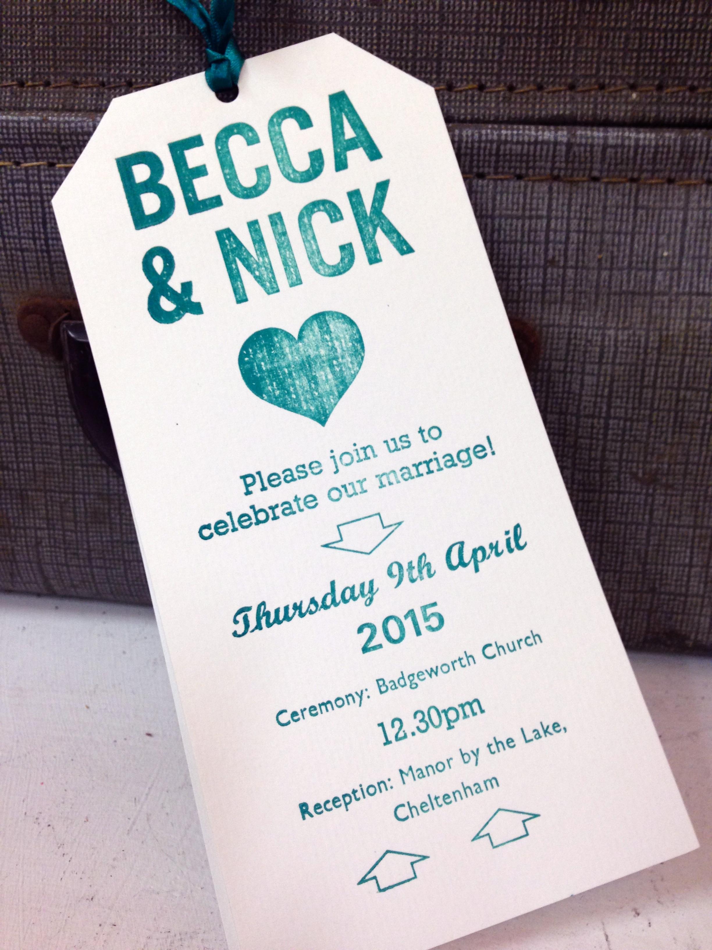 letterpress wedding stationery