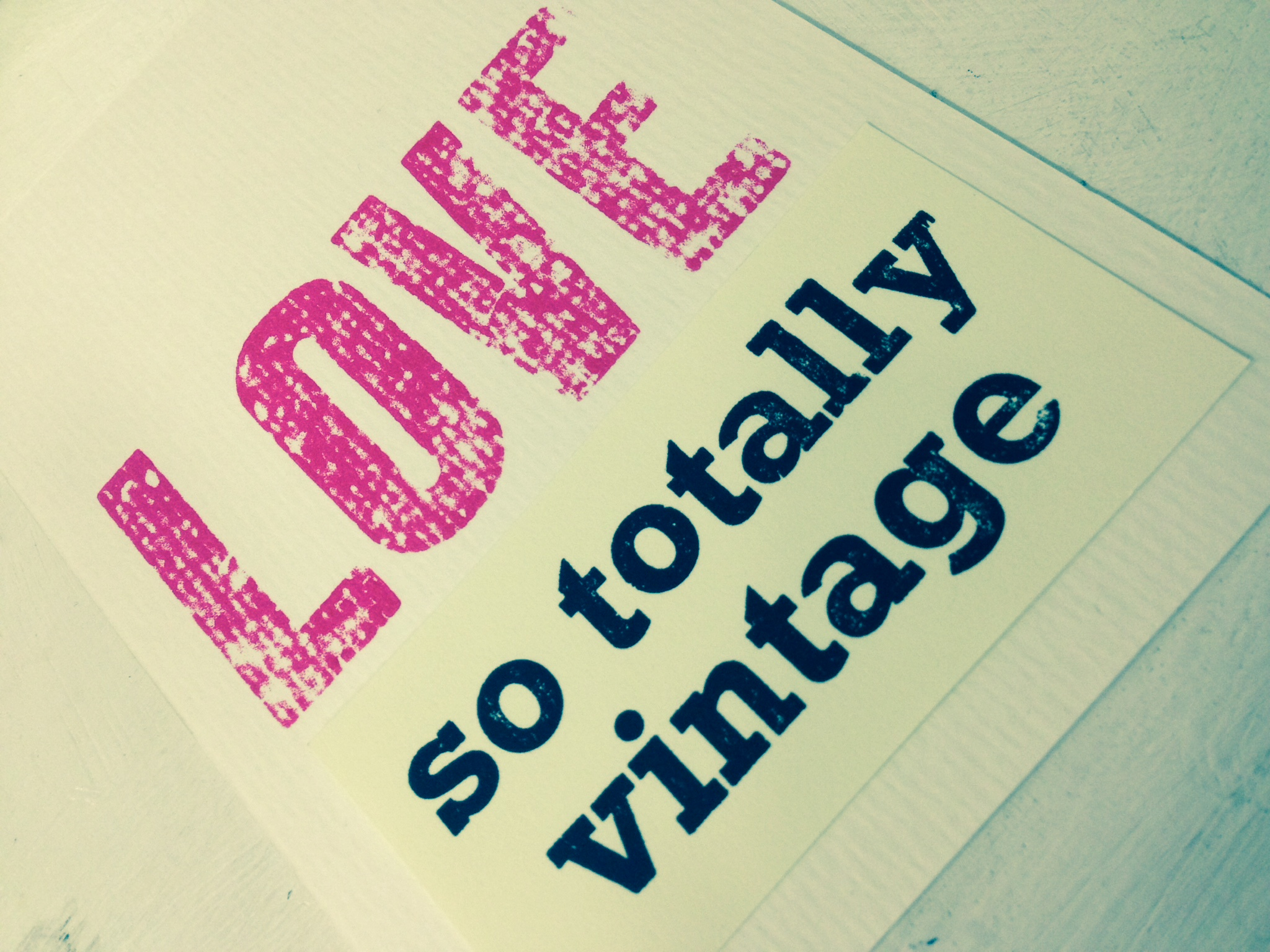 love so totally vintage
