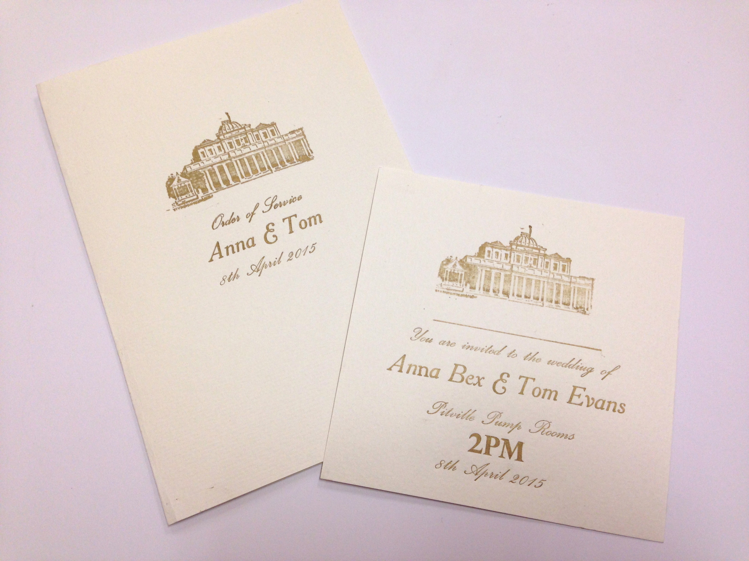 wedding invitations pittville pump rooms
