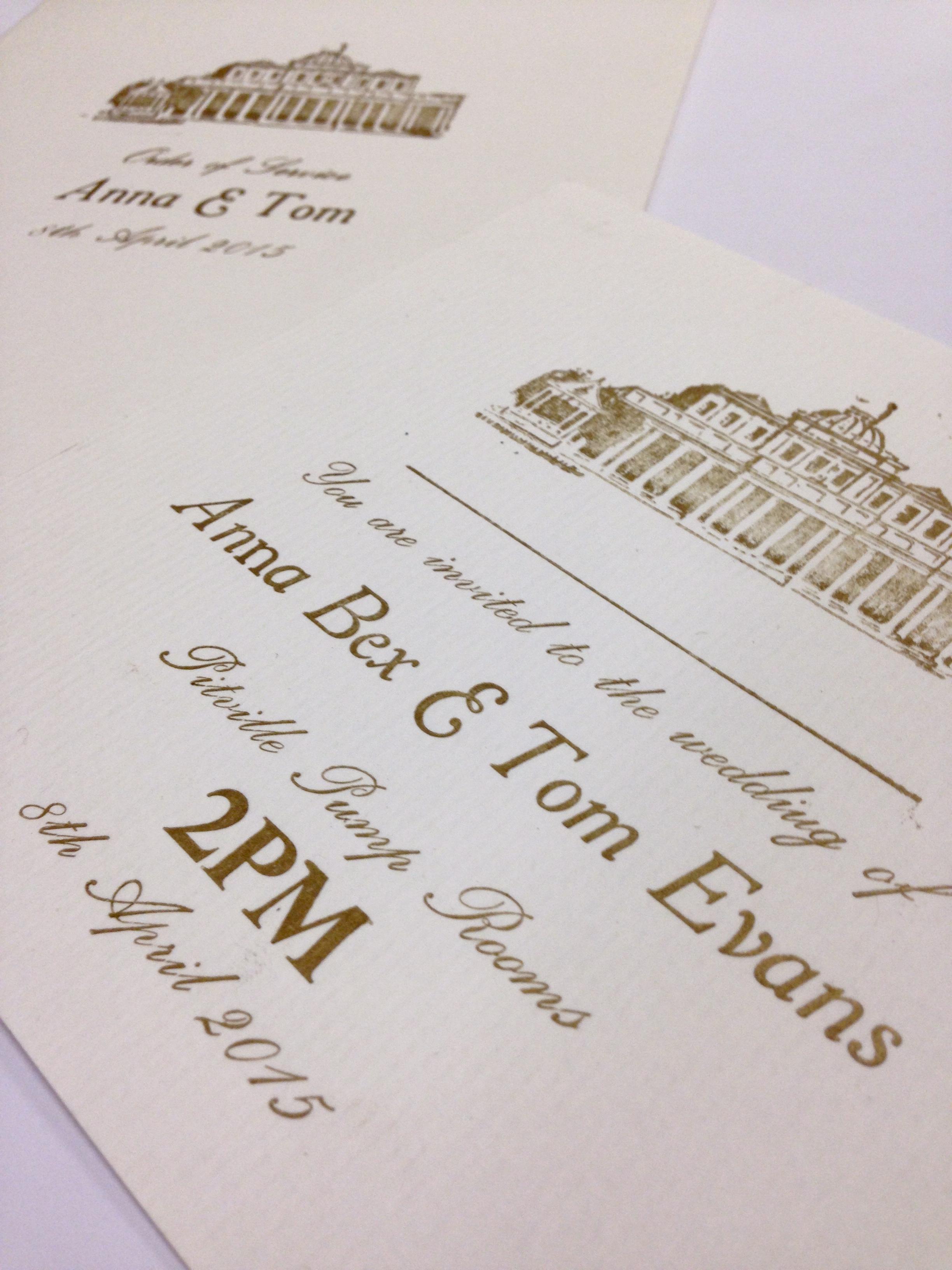 wedding invitations cotswolds