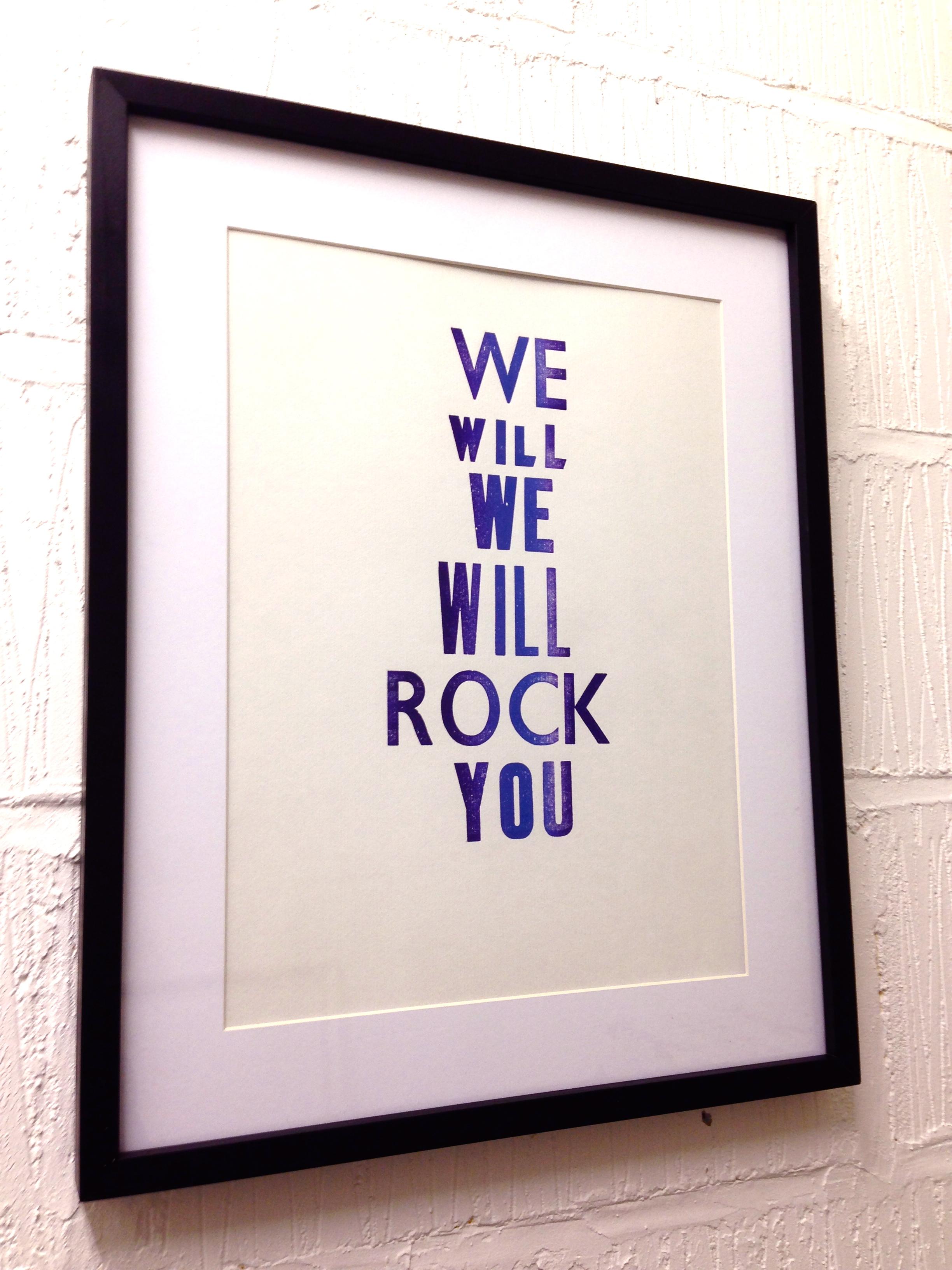 queen:we will rock you