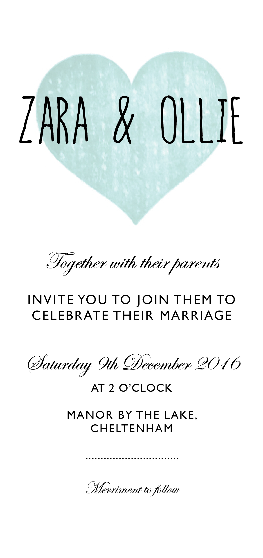 cotswold wedding invite