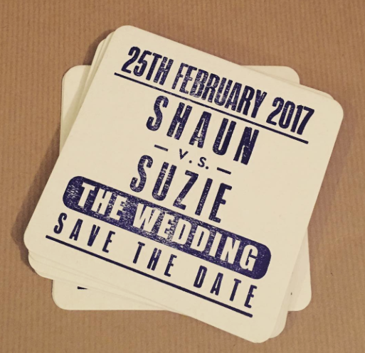 boxing poster wedding stationery