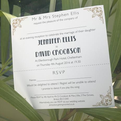 art deco evening invitations