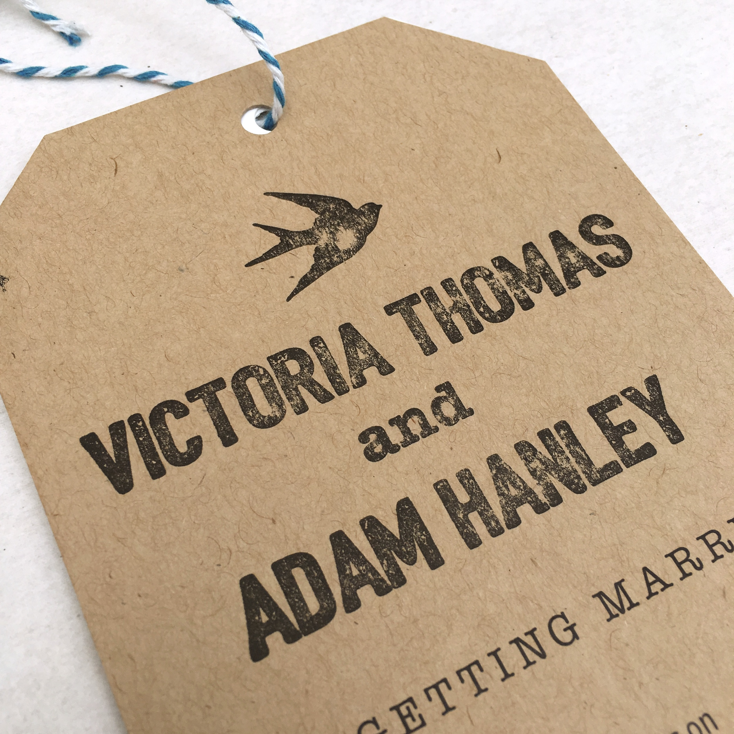 travel tag wedding invitation