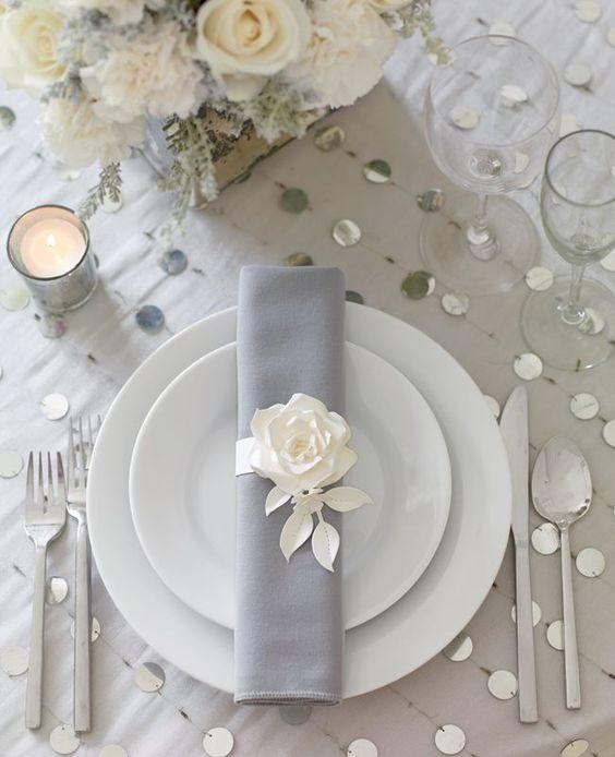 wedding inspiration rose gold and grey