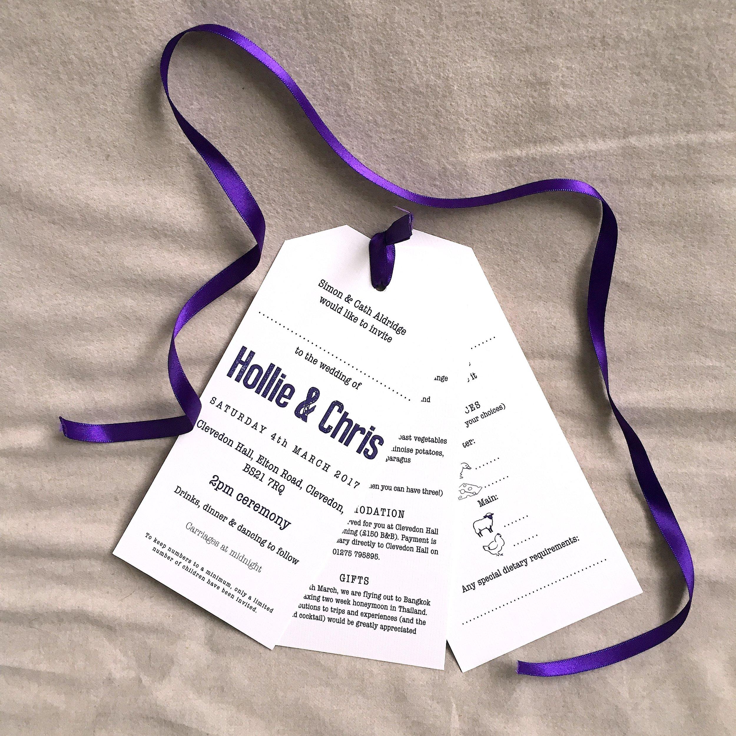 luggage tag invitation