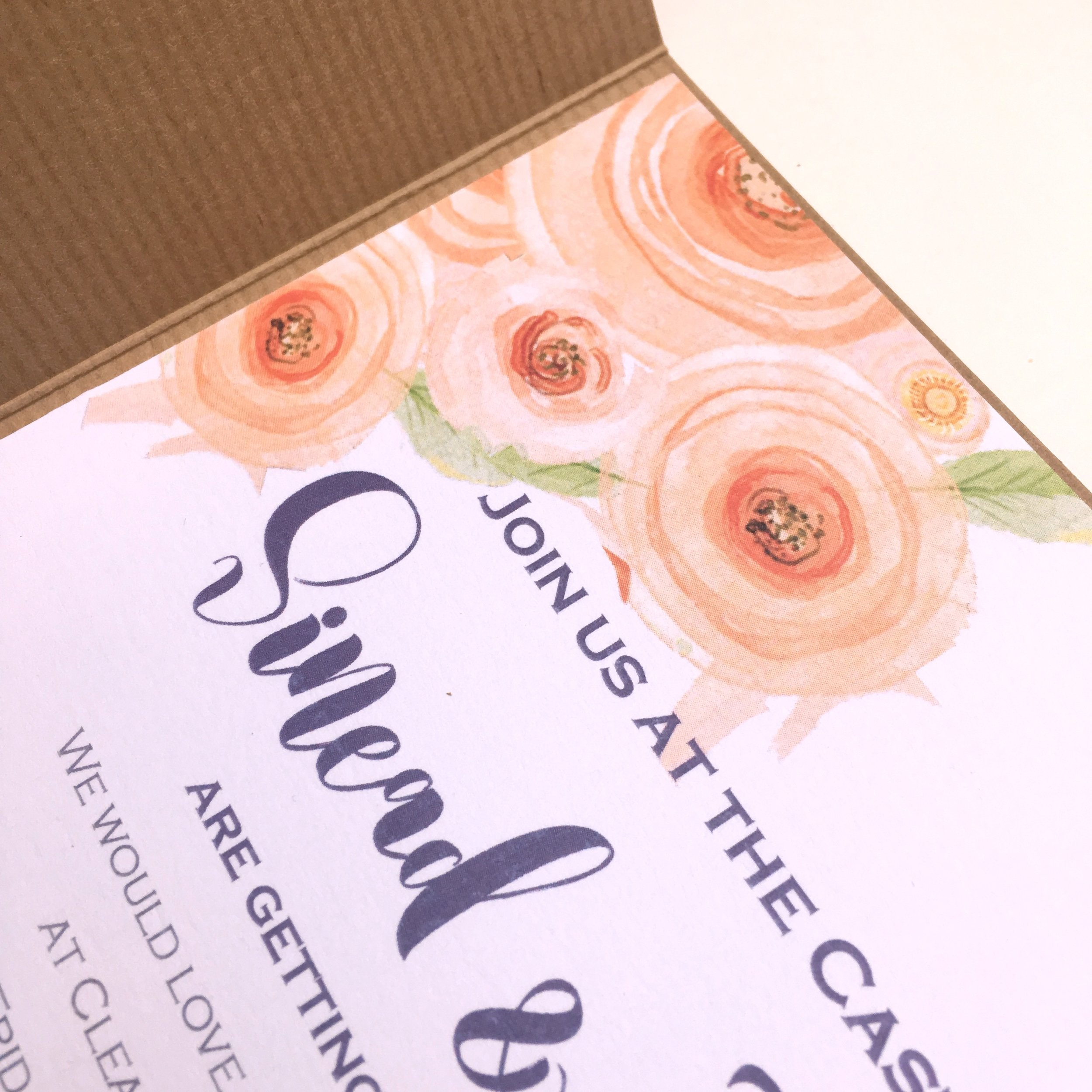 kraft pocketfold invitations
