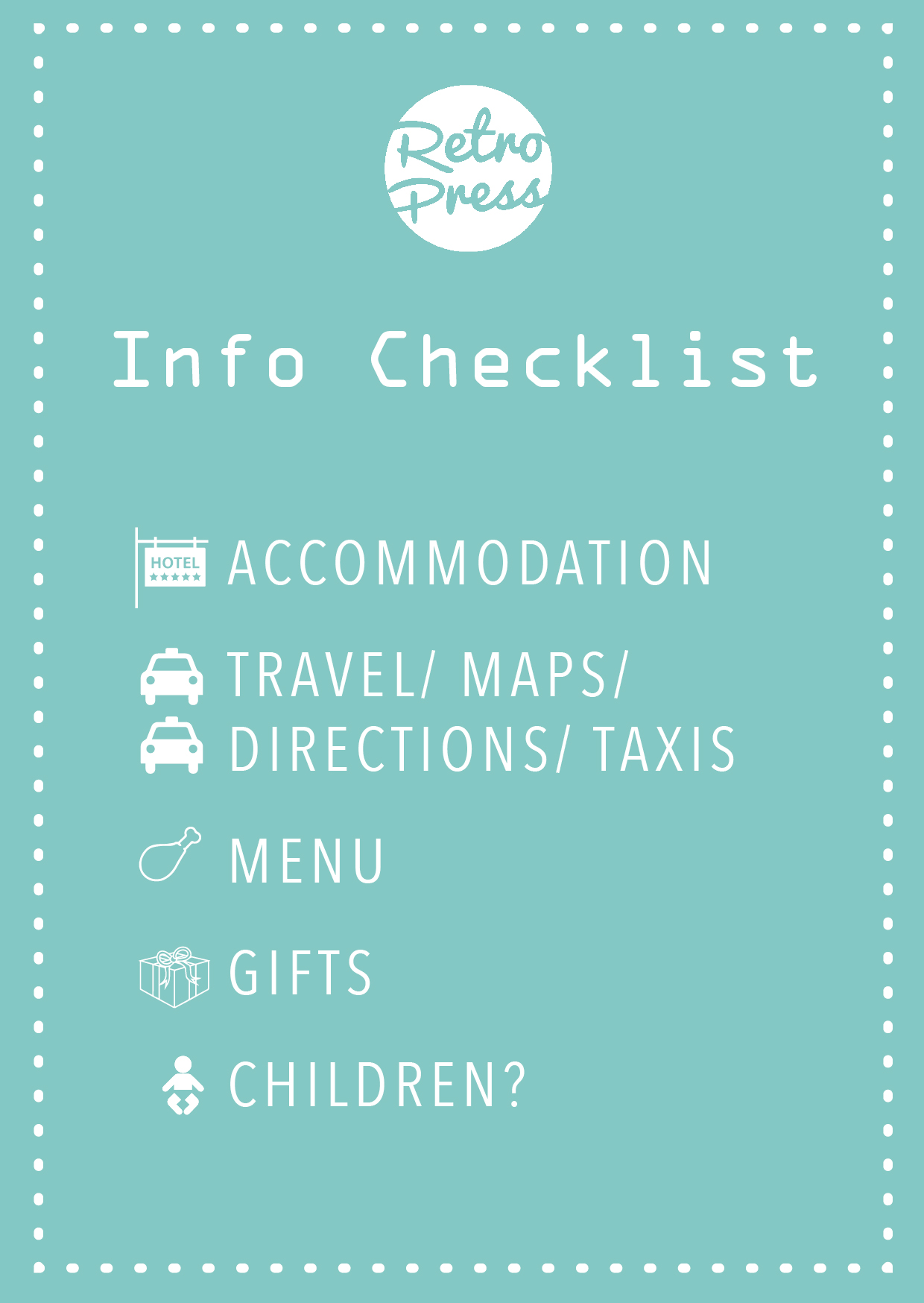 invitation wording checklist