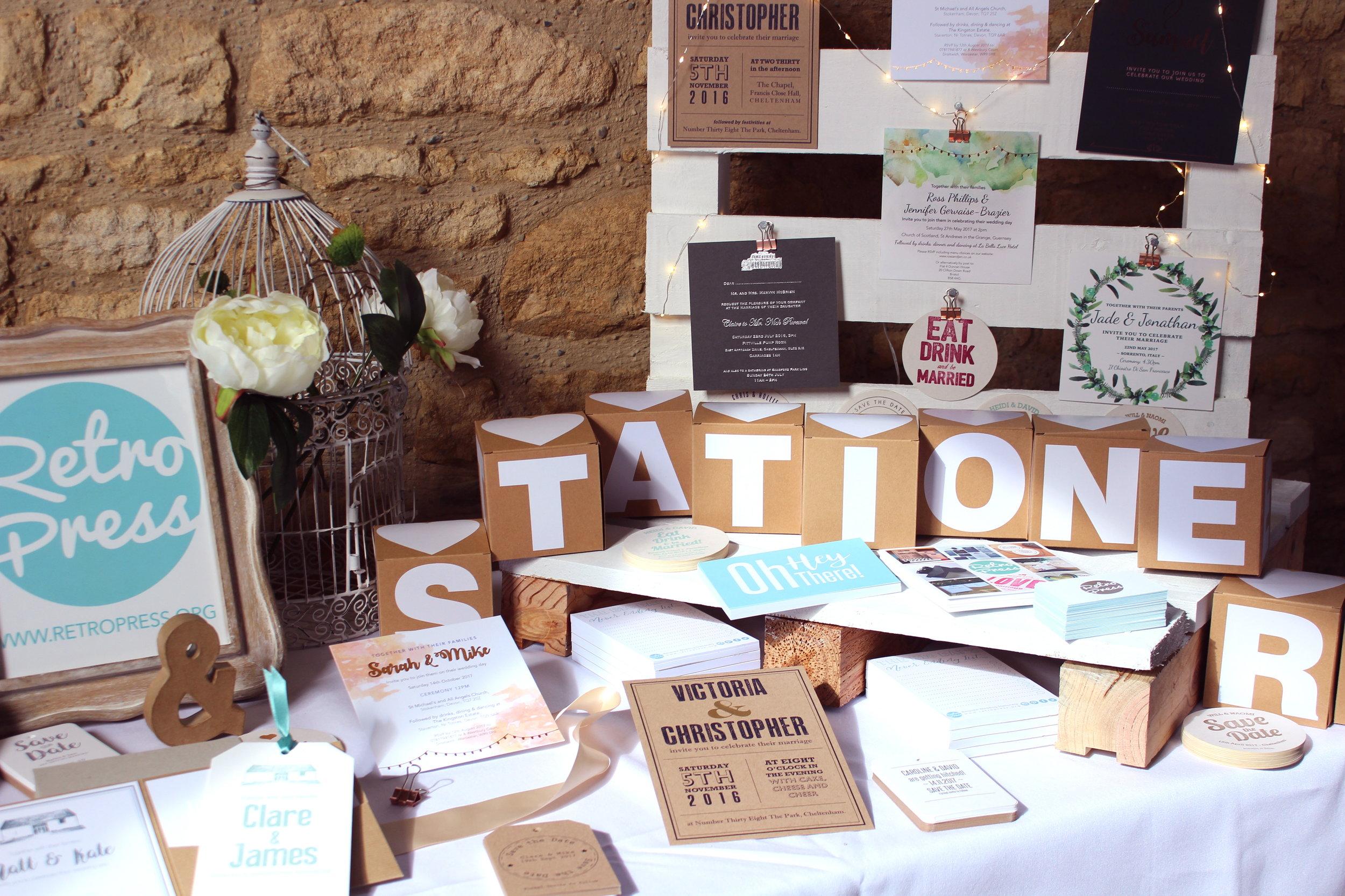 upcote barn wedding stationery