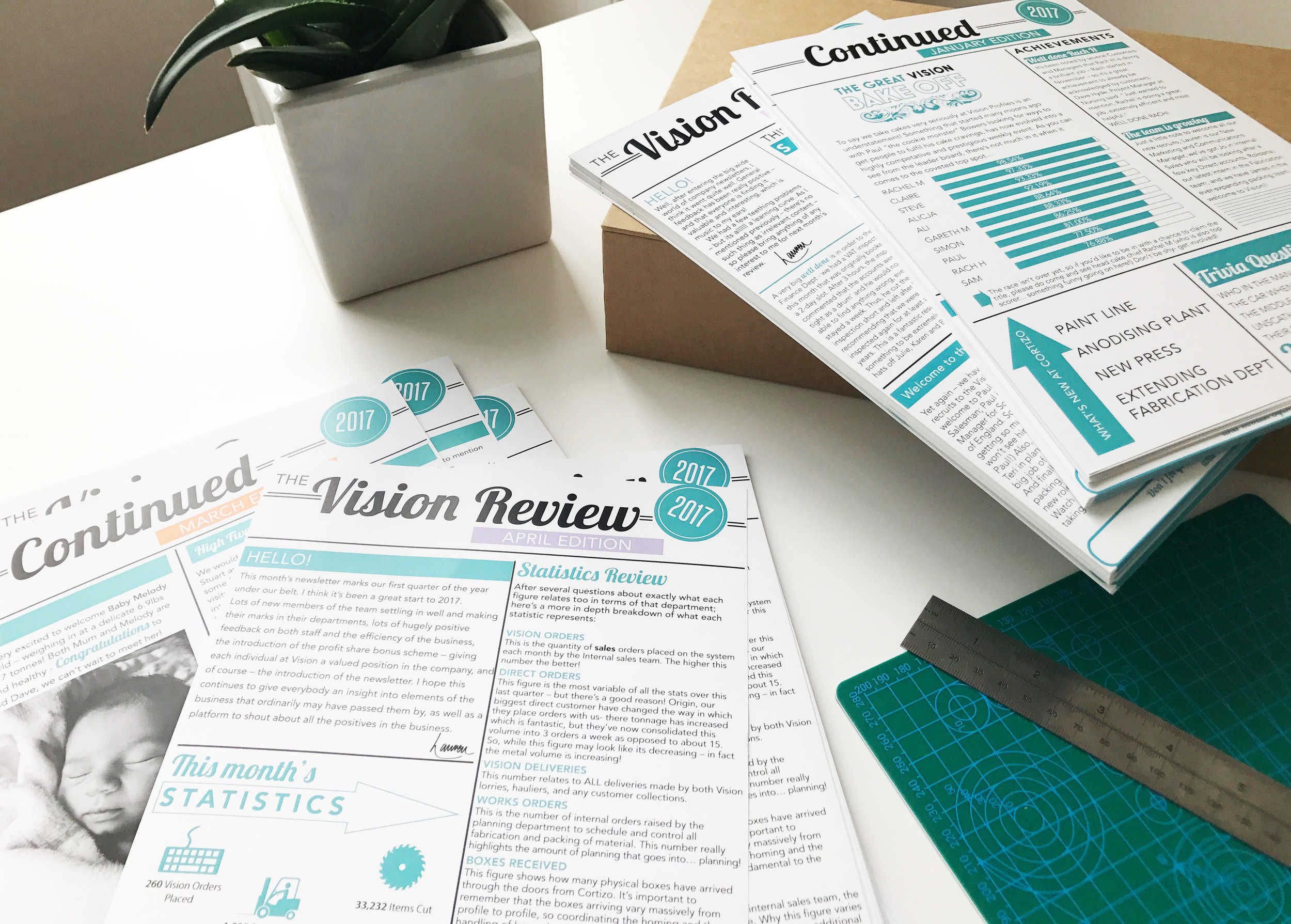 Business Stationery; Newsletters