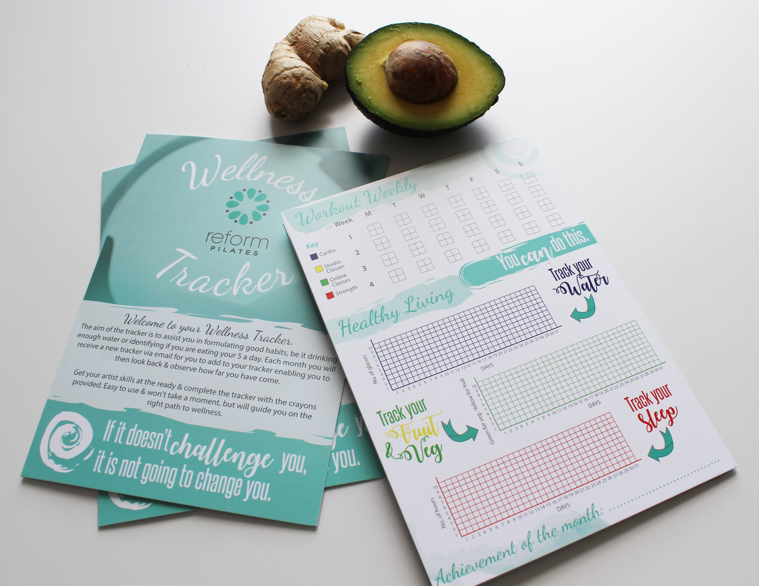 Business Stationery; Wellness Tracker
