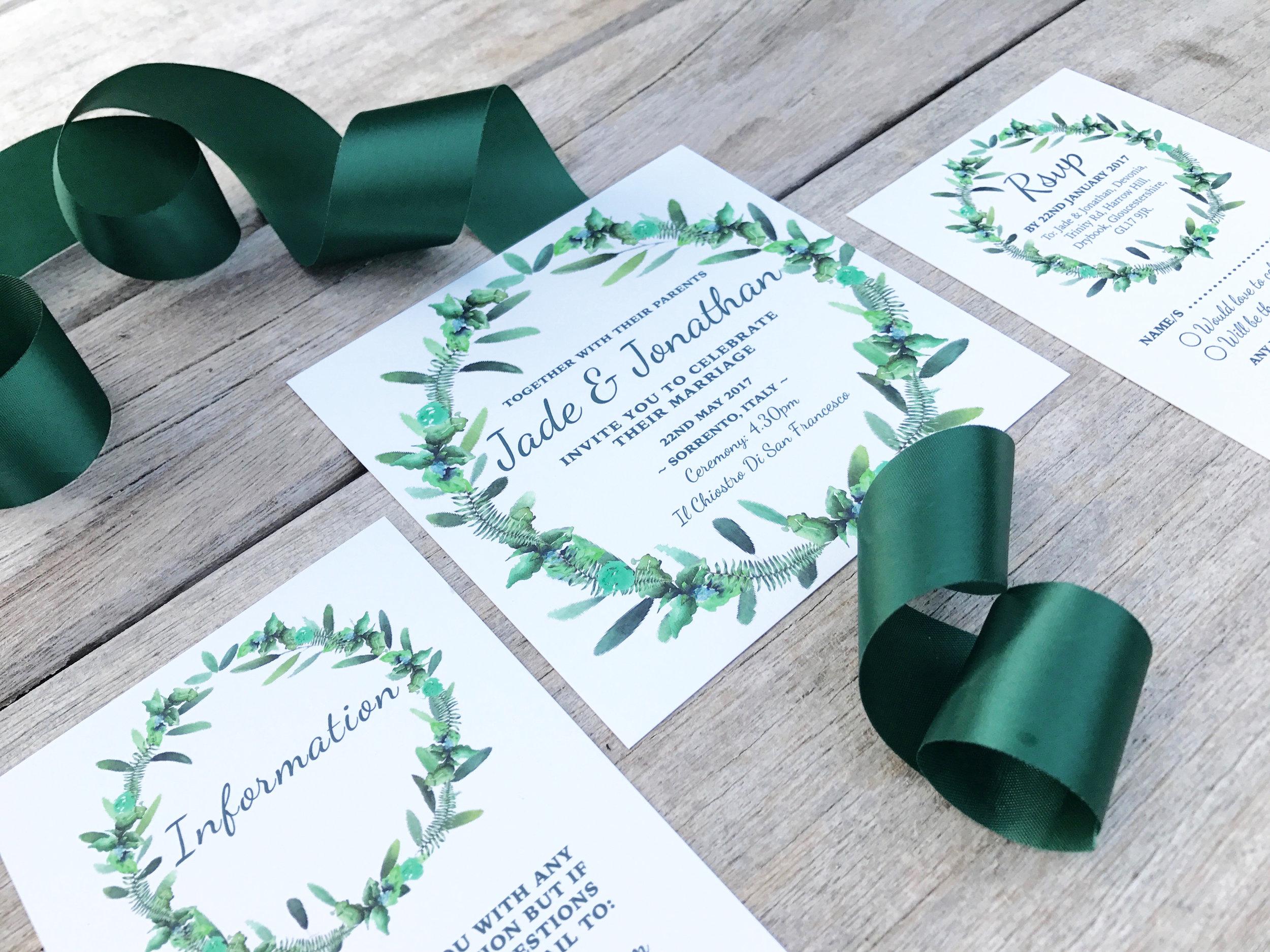 Foliage Wedding Invitations