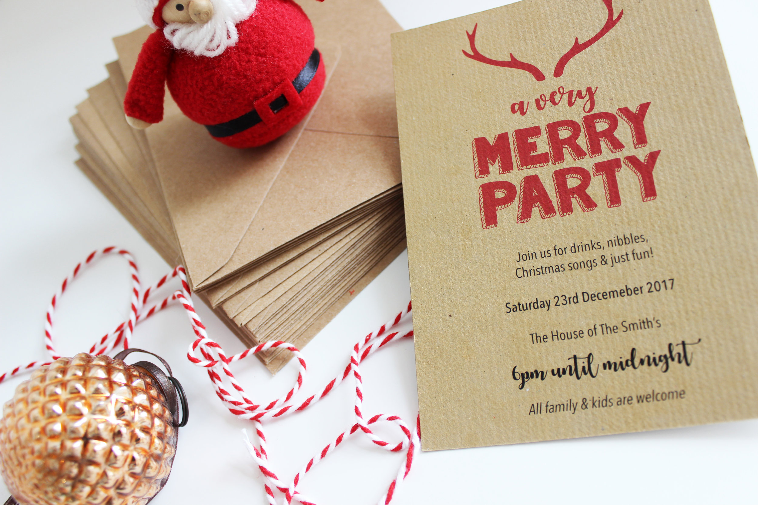 Bespoke Christmas Party Invitation