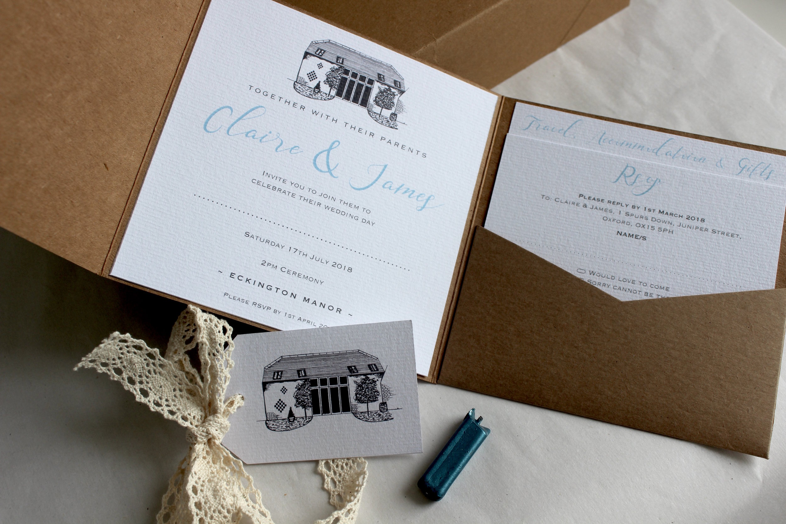 Eckington Manor Bespoke Invitation