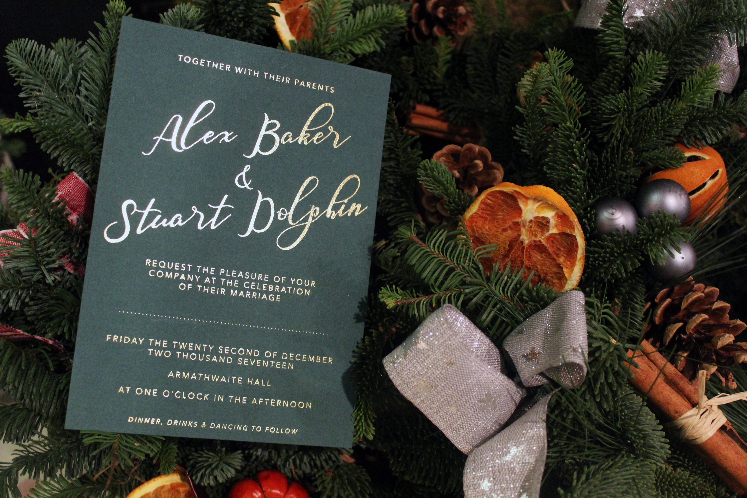 Christmas Wedding Invitations